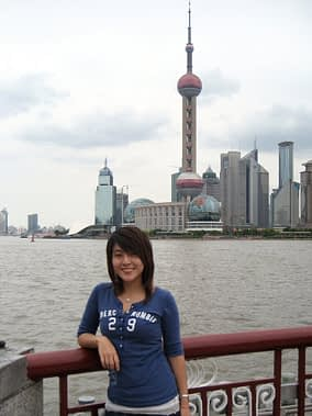 Eugenia in Shanghai during the production of the ICP a Mobile/China Telecom Information and Communications Pavilion at the 2010 World Expo