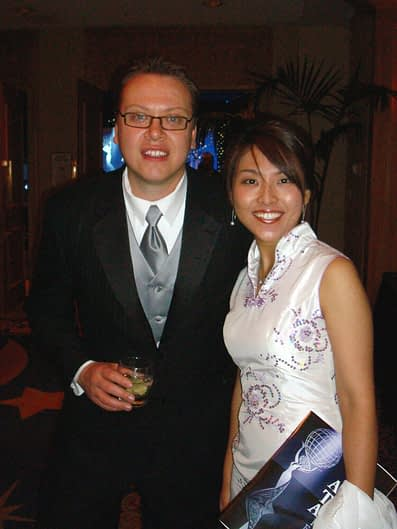 Eugenia and Christian and the Thea Awards Gala
